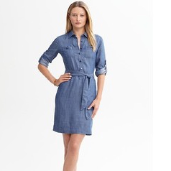11ca83ec07 Banana Republic Dresses   Skirts - Banana Republic denim shirt dress (Petite  ...